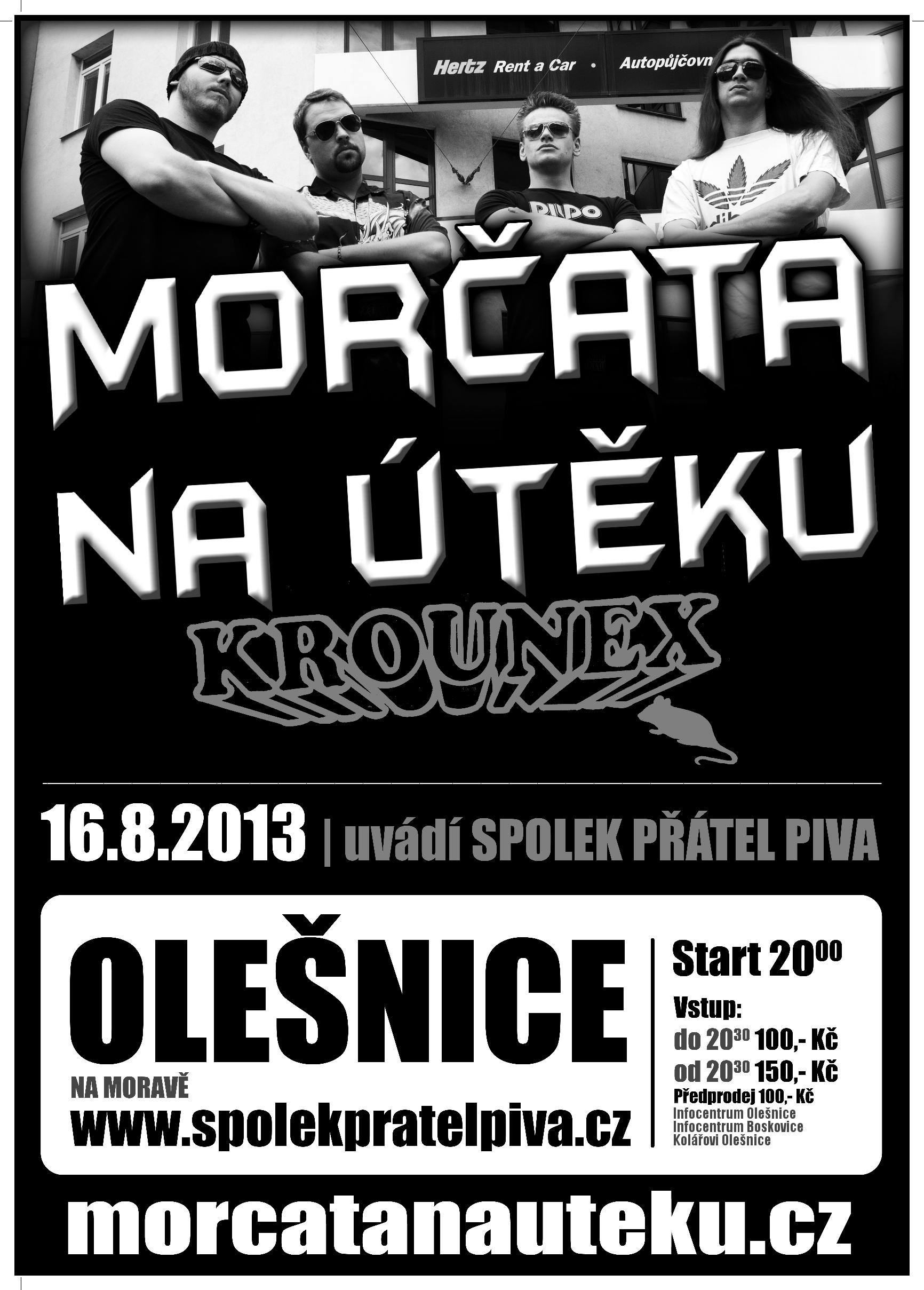 Plakát: Morčata na útěku + Krounex.
