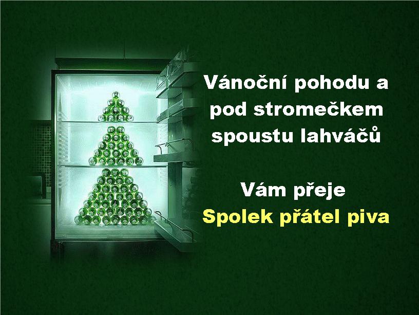 Spolek přátel piva Vám přeje Veselé Vánoce.