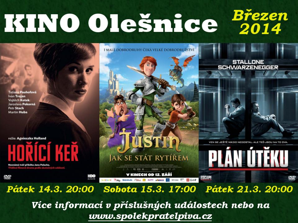 Kino Olešnice program - březen 2014