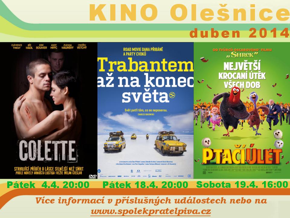KINO Olešnice - Duben 2014