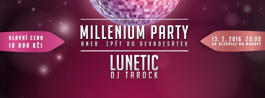 Millenium party - ples Olešnice 2016